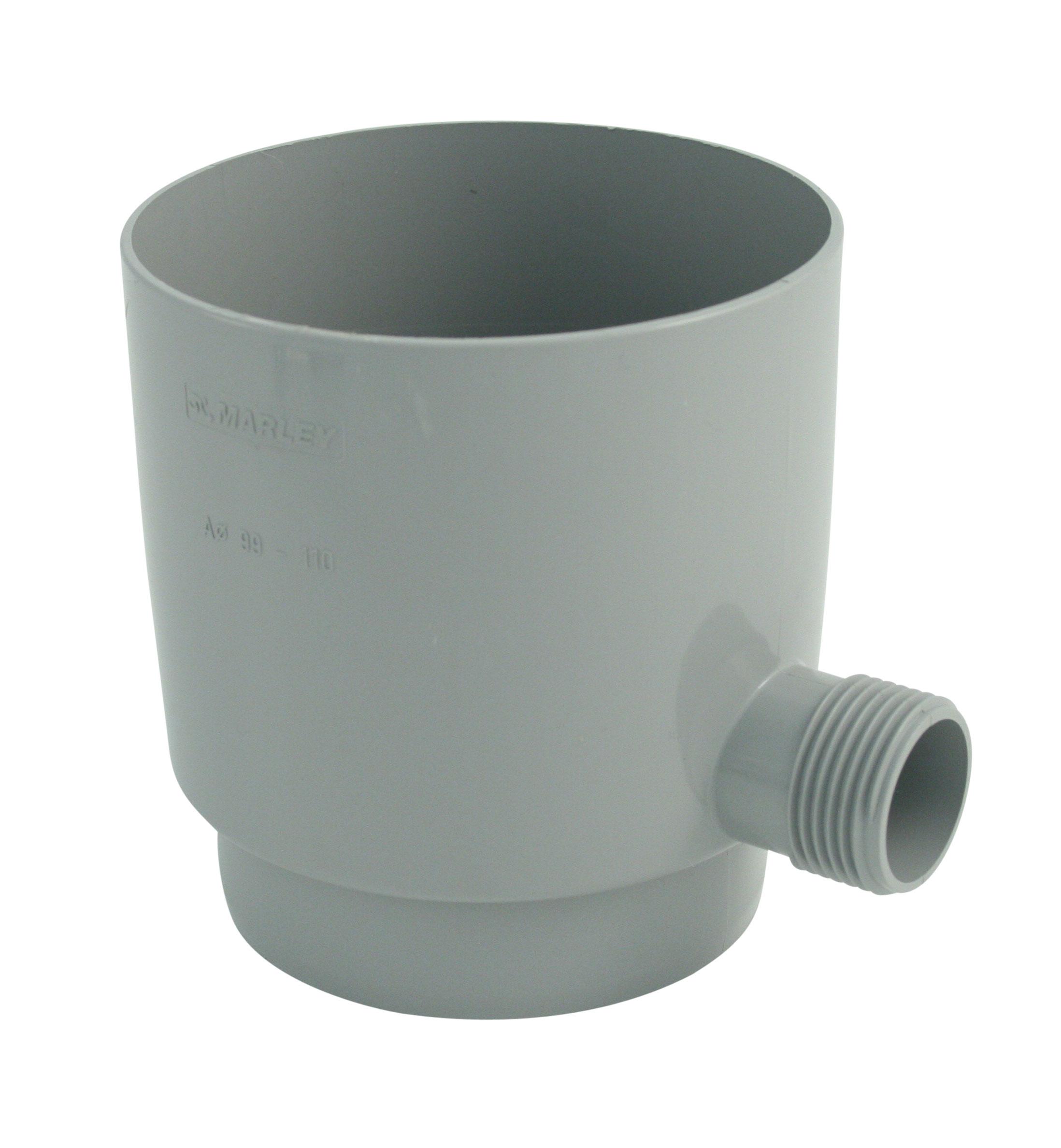 Regensammler grau mit Überlaufstop DN75 Bild 1