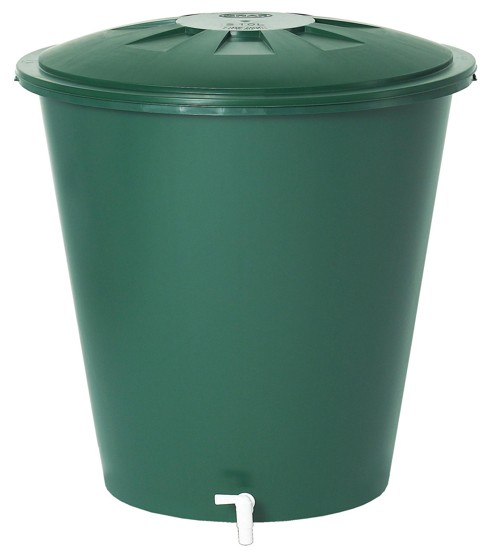 B-Ware Regentonne rund 210 Liter grün GARANTIA 500212 Bild 1