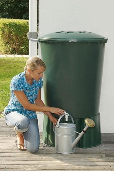 B-Ware Regentonne rund 210 Liter grün GARANTIA 500212 Bild 2