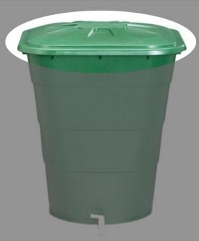 Deckel für Garantia Regentonne eckig 203 Liter grün Bild 1