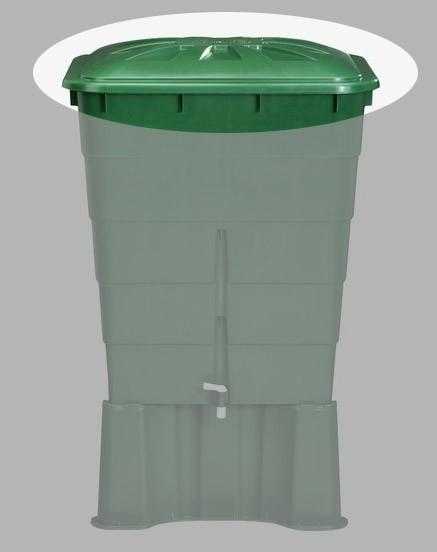 Deckel für Garantia Regentonne eckig 300 Liter grün Bild 1