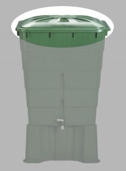 Deckel für Garantia Regentonne eckig 520 Liter grün Bild 1