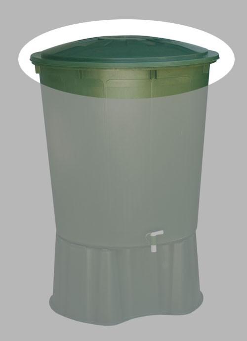 Deckel für Regentonne 210 L rund Farbe grün GARANTIA Bild 1
