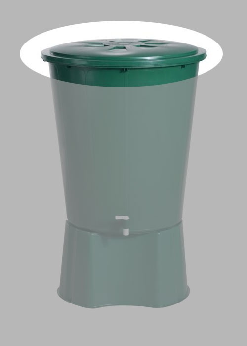 Deckel für Regentonne 310 L rund Farbe grün GARANTIA Bild 1