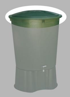Deckel für Regentonne 510 L rund Farbe grün GARANTIA Bild 1