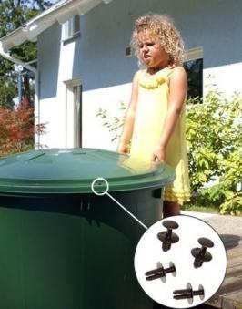Kindersicherung / Windsicherung für Regentonne GRAF GARANTIA 504016 Bild 1