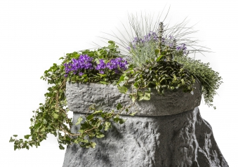 Pflanzschale für Regentonne Hinkelstein GreenLife granitgrau Bild 2