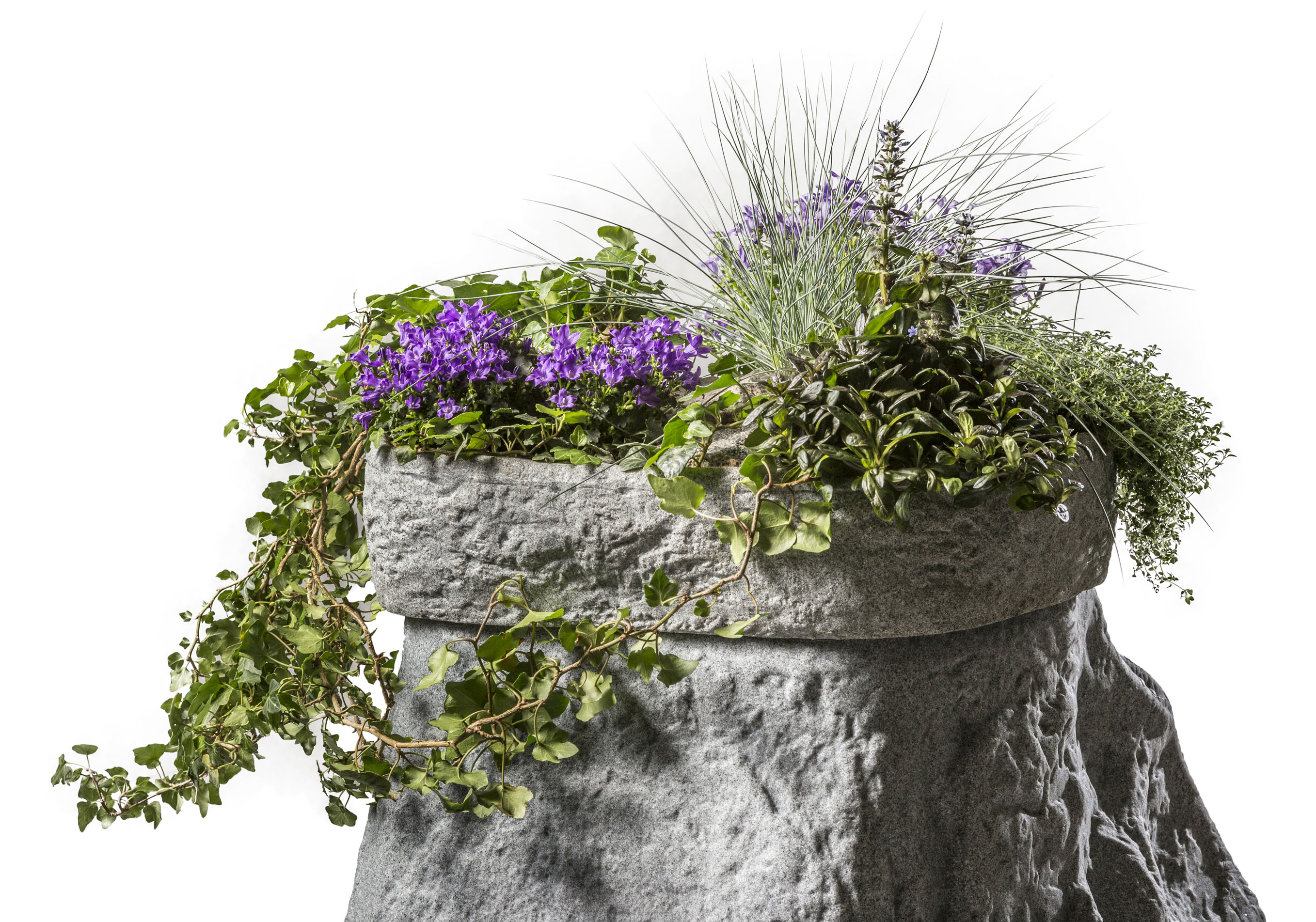 Pflanzschale für Regentonne Hinkelstein GreenLife granitrot Bild 2