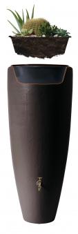 Regentonne 2in1 300 Liter mit Pflanzschale mocca GRAF 326109 Bild 3