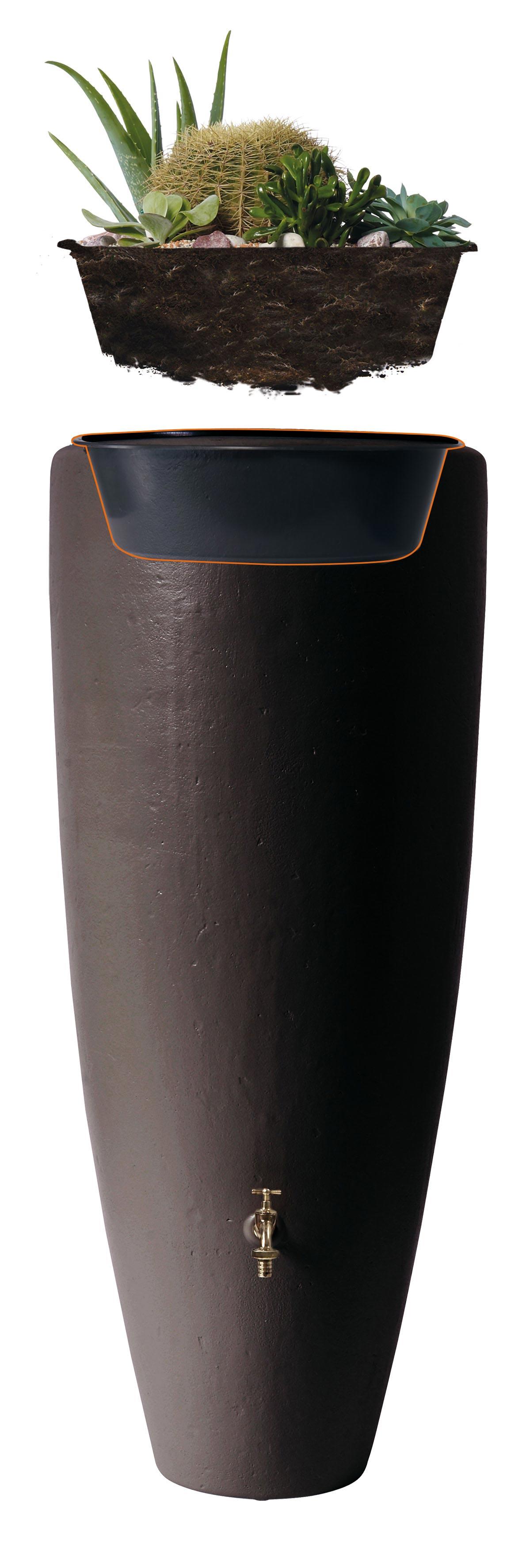Regentonne 2in1 300 Liter mit Pflanzschale taupe GRAF 326116 Bild 3
