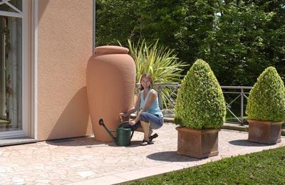 Regentonne Amphore 300 Liter terrakotta GRAF 211701 Bild 2