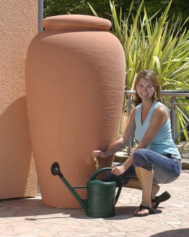 regentonne amphore 500 liter terrakotta graf 211702 bei. Black Bedroom Furniture Sets. Home Design Ideas