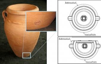 Regentonne Antik Amphore 250L terrakotta mit Pflanzschale GRAF 211601 Bild 2