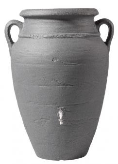 Regentonne Antik Amphore 600L darkgranite mit Pflanzschale GRAF 211614 Bild 2
