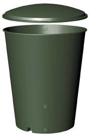 Regentonne GreenLife rund 1000 Liter grün mit Deckel Bild 1