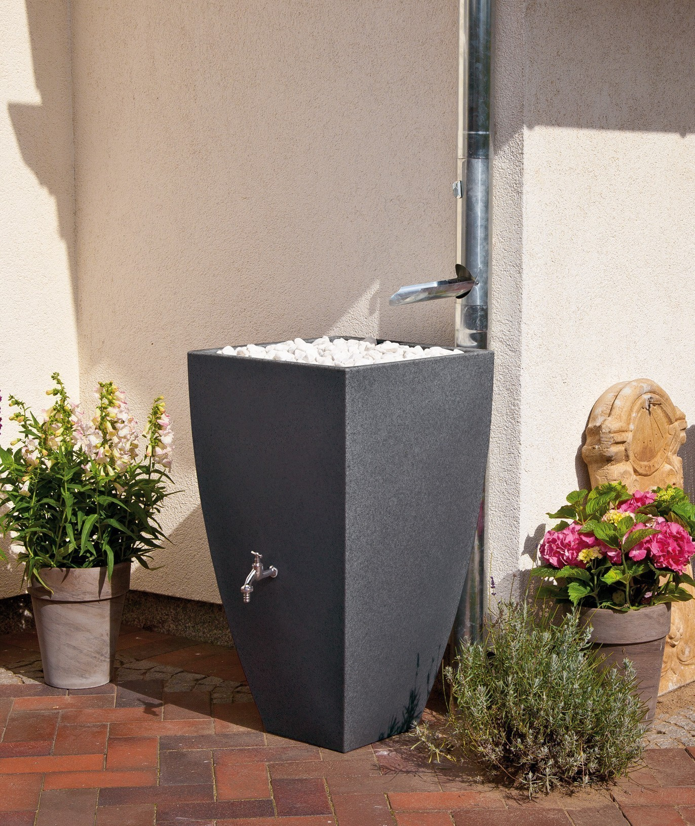 regentonne regenwassertank 200 l rewatec modena black. Black Bedroom Furniture Sets. Home Design Ideas