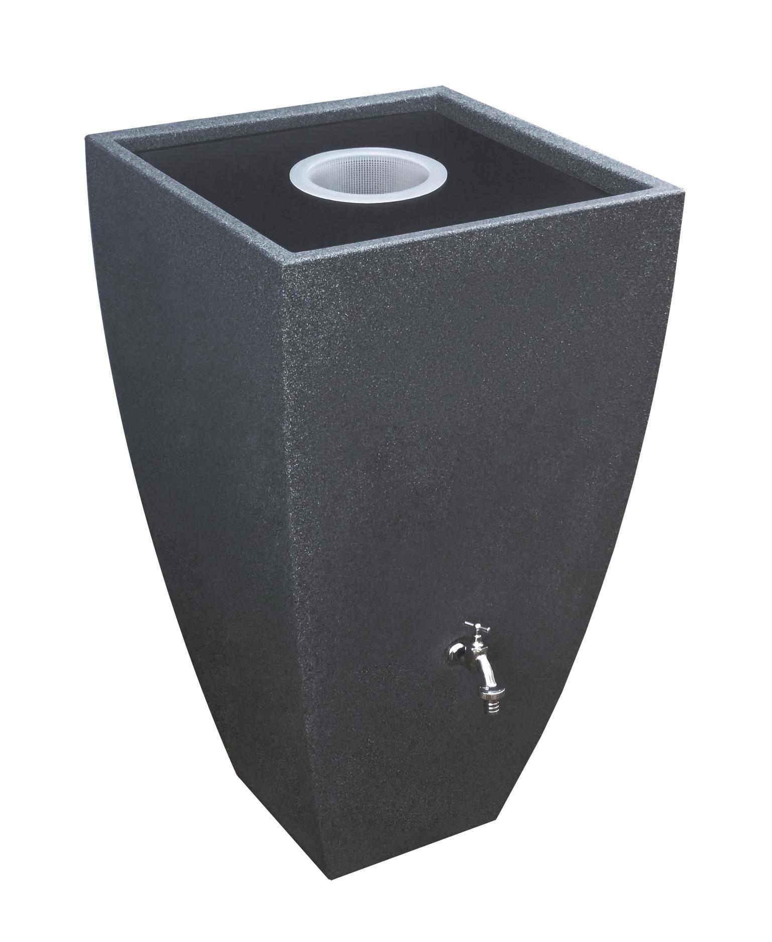 regentonne regenwassertank 200 l rewatec modena black granit bei. Black Bedroom Furniture Sets. Home Design Ideas