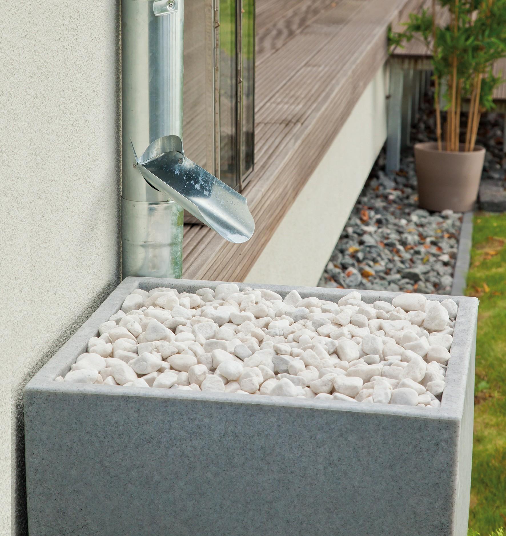 regentonne regenwassertank 350 l rewatec modena granit bei. Black Bedroom Furniture Sets. Home Design Ideas
