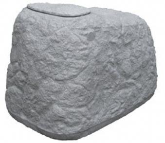 regentonne regenwassertank findling 500 liter granitgrau. Black Bedroom Furniture Sets. Home Design Ideas