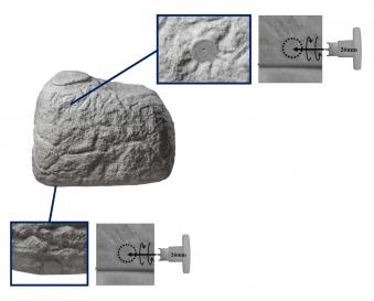 Regentonne / Regenwassertank GreenLife Findling 500 Liter granitgrau Bild 2