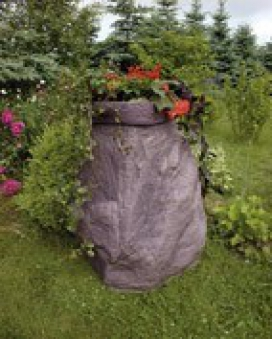 Regentonne / Regenwassertank GreenLife Hinkelstein 230 Liter granitrot Bild 2