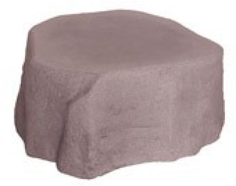 Sockel zu Regentonne GreenLife Hinkelstein Höhe 30 cm granitrot