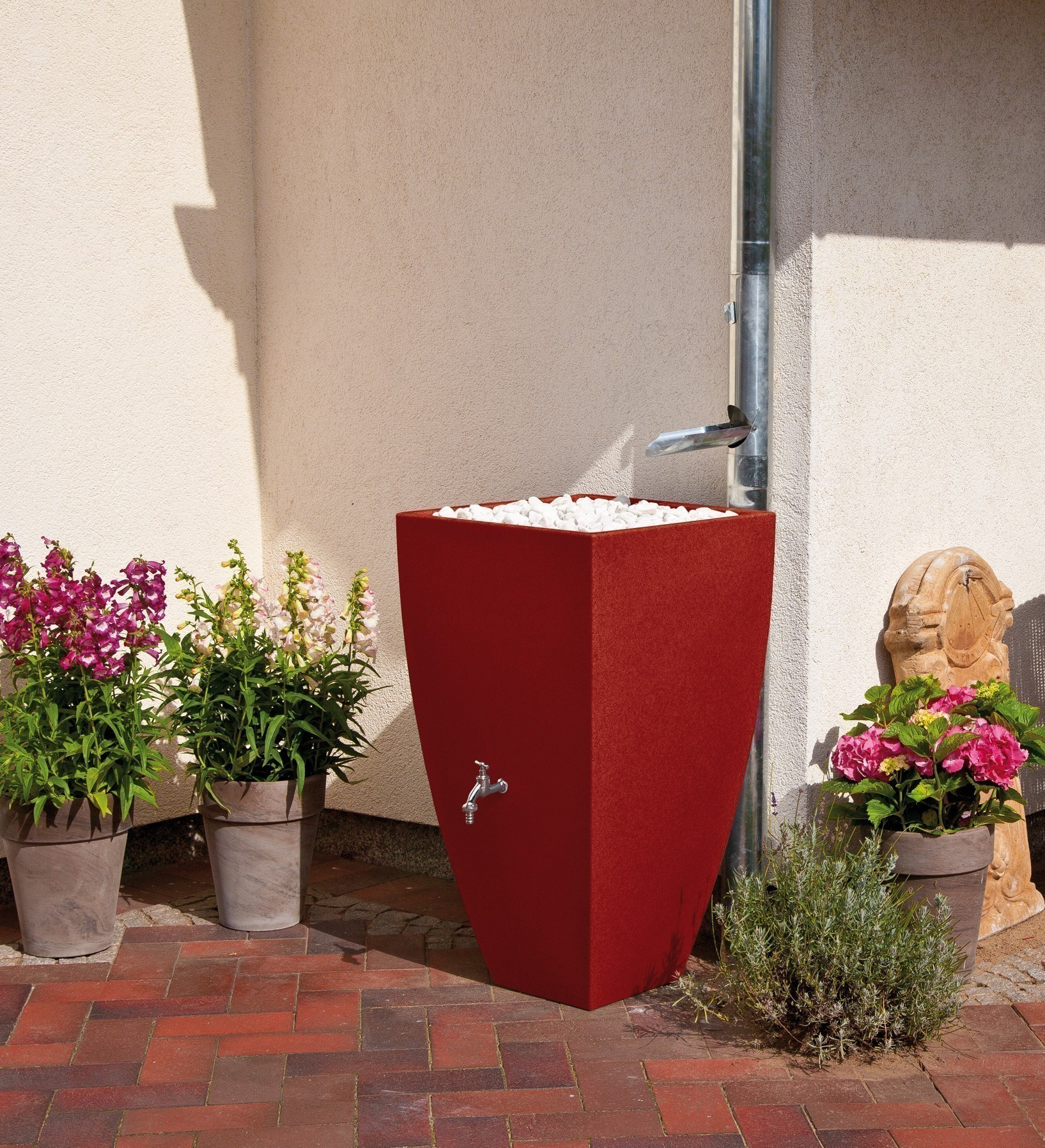Regentonne / Regenwassertank Premier Tech Aqua Modena 350L rubinrot Bild 1