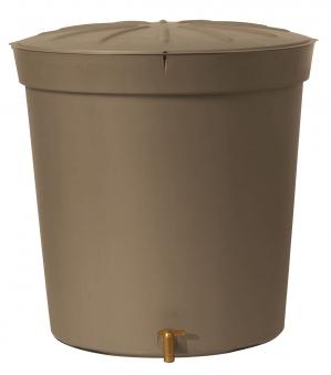 Regentonne Siena 300 Liter rund taupe GARANTIA 500227 Bild 1