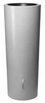 Regentonne Stone 2in1 350L mit Pflanzschale silver GRAF 326140 Bild 1