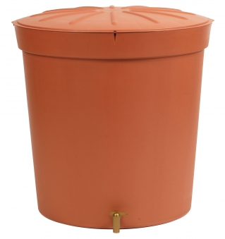 regentonne toskana 300 liter rund terrakotta garantia. Black Bedroom Furniture Sets. Home Design Ideas