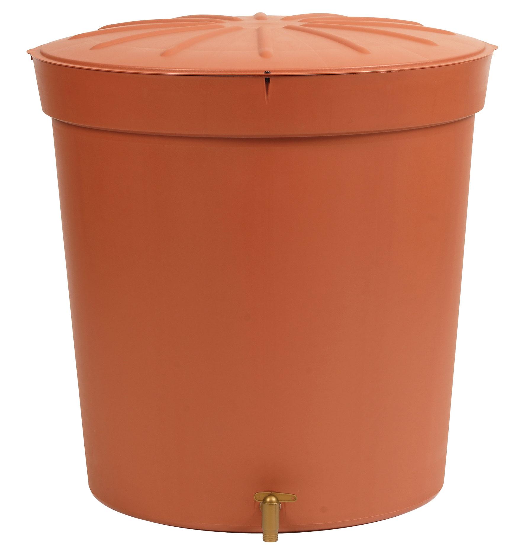 regentonne toskana 300 liter rund terrakotta garantia bei. Black Bedroom Furniture Sets. Home Design Ideas