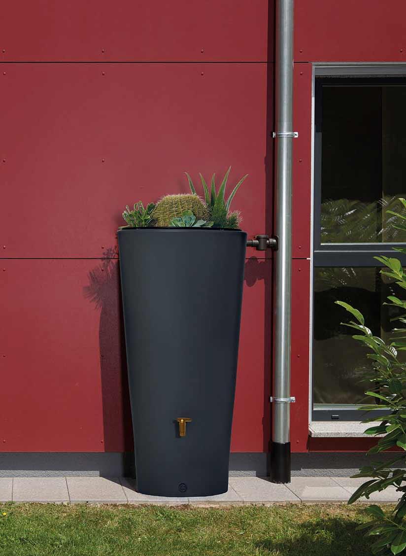 regentonne grau regentonne vaso 2in1 regenfass 220l graphit grau m regentonne vaso 2in1 220l. Black Bedroom Furniture Sets. Home Design Ideas
