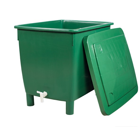 Regentonne eckig 210 Liter grün GARANTIA 501201 Bild 1