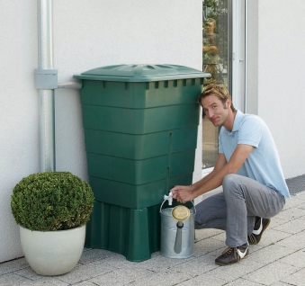 Regentonne eckig 300 Liter grün GARANTIA 501206 Bild 2