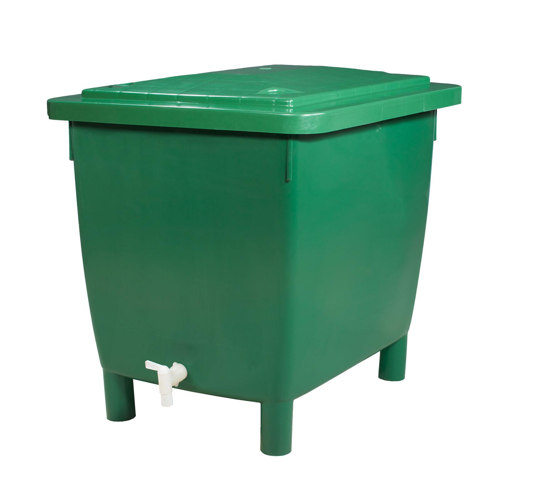 Regentonne eckig 400 Liter grün GARANTIA 501202 Bild 7