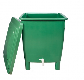 Regentonne eckig 400 Liter grün GARANTIA 501202 Bild 1