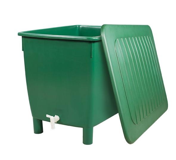 Regentonne eckig 650 Liter grün GARANTIA 501203 Bild 1
