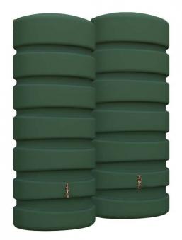 Regenwasser Wandtank Classic 1300 Liter grün 4Rain 295627 Bild 1