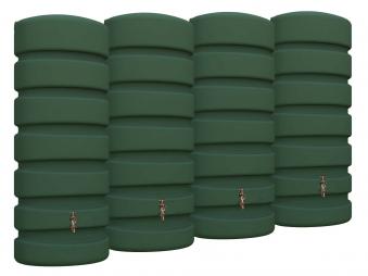 Regenwasser Wandtank Classic 2600 Liter grün 4Rain 295628 Bild 1