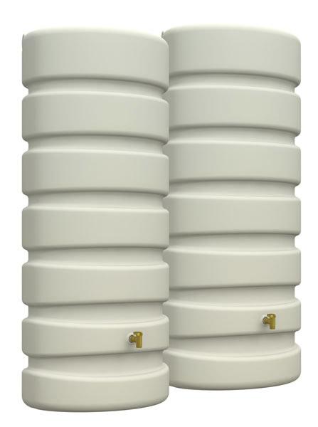 regenwasser wandtank classic 2x650 liter set sandbeige 4rain 295625