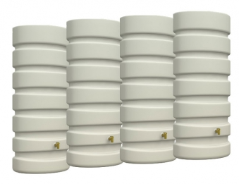 Regenwasser Wandtank Classic 4x650 Liter Set sandbeige 4Rain 295626 Bild 1