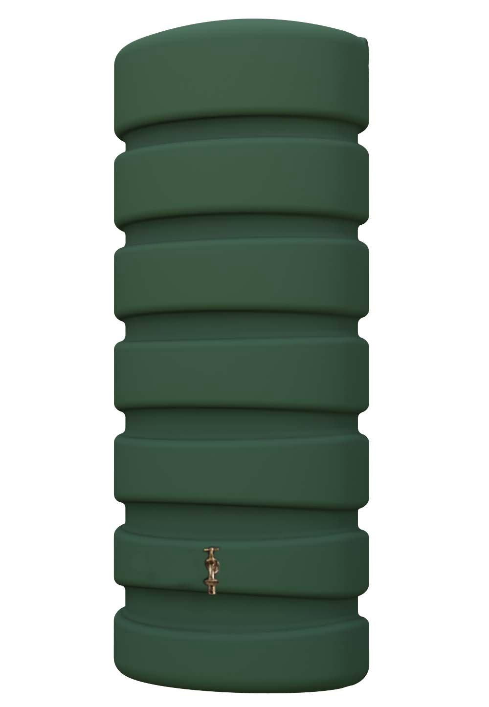 regenwasser wandtank classic 650 liter grün 4rain 295608 - bei