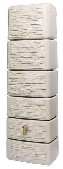 regenwasser wandtank slim 300 liter stone dekor sandbeige 4rain 211812 bei. Black Bedroom Furniture Sets. Home Design Ideas