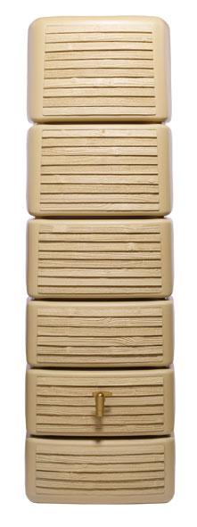 Regenwasser Wandtank Slim 300 Liter Wood Dekor lightwood 4Rain 211814 Bild 1