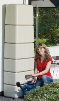 Regenwasser Wandtank Slim 300 Liter sandbeige 4Rain 211801 Bild 3