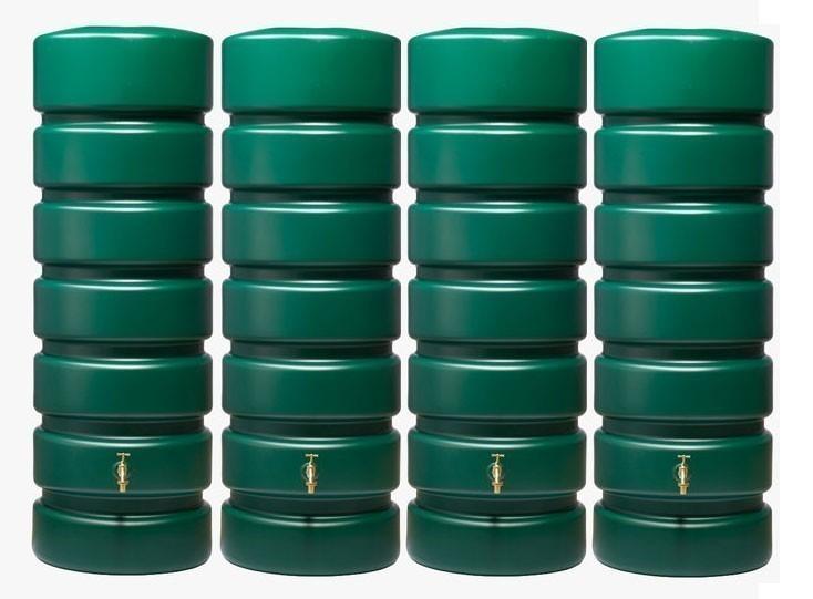 Regenwassertank Classico 4x650 Liter Set grün GRAF 326036 Bild 1
