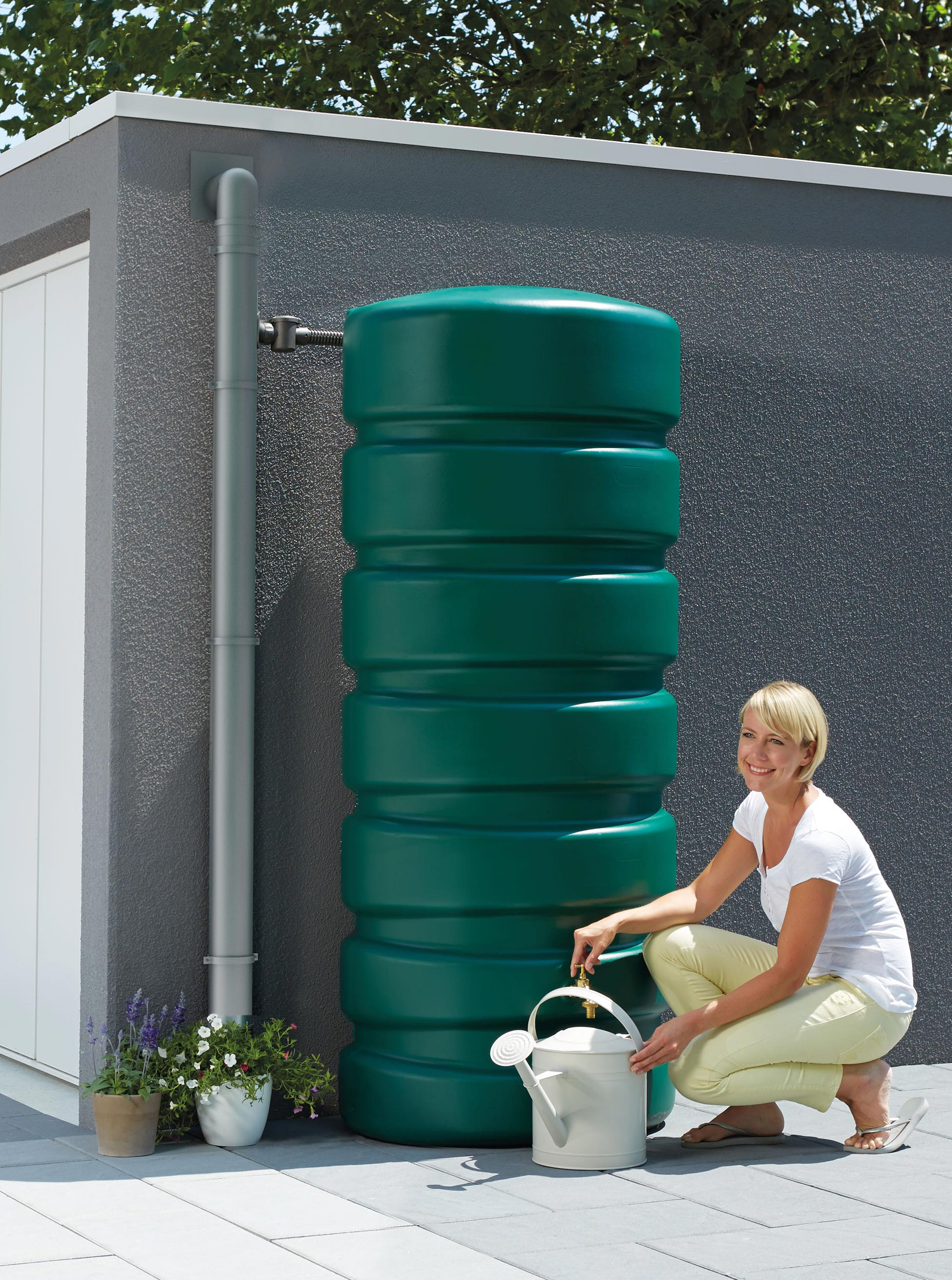 Regenwassertank Classico 650 Liter grün GRAF 326030 Bild 2