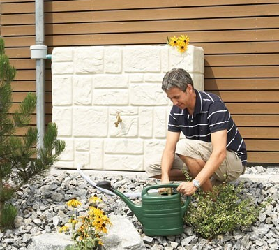 Regenwassertank Mauertank 300L sandbeige GRAF 326121 Bild 2