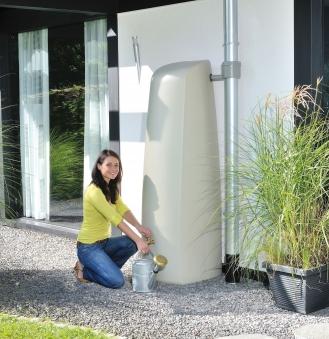 regenwassertank wandtank elegance 400l sandbeige graf. Black Bedroom Furniture Sets. Home Design Ideas
