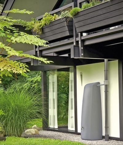 Regenwassertank Wandtank Elegance 400L steingrau GRAF 212301 Bild 2
